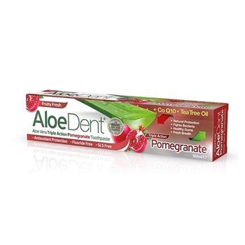 Picture of Optima Aloe Dent Triple Action Pomegranate Toothpaste με Co Q10 Tea Tree Oil 100ml