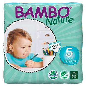 Picture of Πάνα Bambo Nature Junior (12-22kg)  Συσκευασία 162 Τεμαχίων