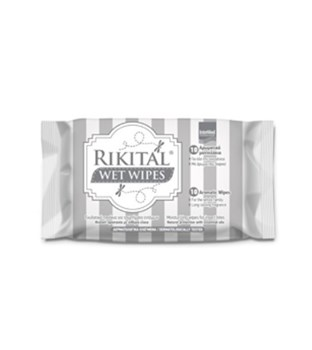 Picture of Intermed Rikital Wet Wipes 10 τμχ Ενυδατικά Πανάκια για Τσιμπήματα Εντόμων