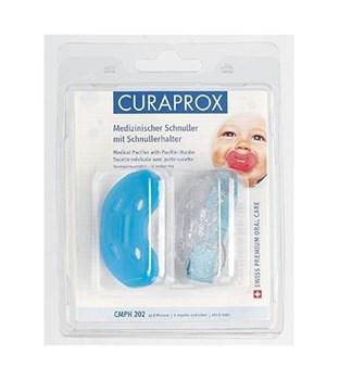 Picture of CURAPROX CMPΗ 202 από 8 μηνών 1 τμχ με κλιπ & λουράκι - Ορθοδοντική ειδικά μελετημένη πιπίλα