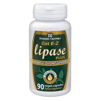 Picture of DYNAMIC ENZYMES Eat E-Z Lipase Plus 90Veg.Caps