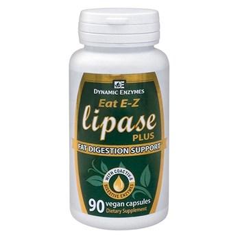 Picture of DYNAMIC ENZYMES Eat E-Z Lipase Plus 90Veg.Caps