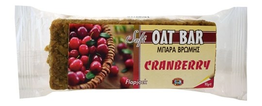 Picture of CAPTAIN QUICK Soft Cranberry Oat Bar Flapjack 90gr