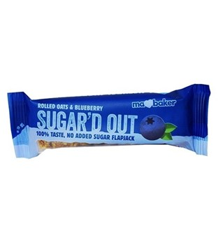 Picture of Ma Baker Sugar'd Out Μπάρα βρώμης Μύρτιλο 50gr Χωρίς ζάχαρη