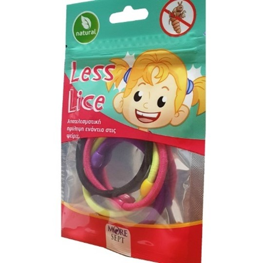 Picture of MORESEPT Less Lice 4 τεμαχίων (Αντιφθειρικό Λαστιχάκι για τα μαλλιά)