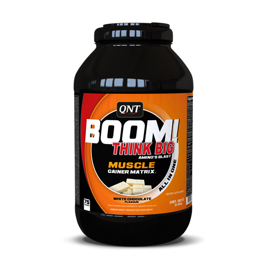 Picture of QNT Boom Muscle Gainer White Chocolate 3kg