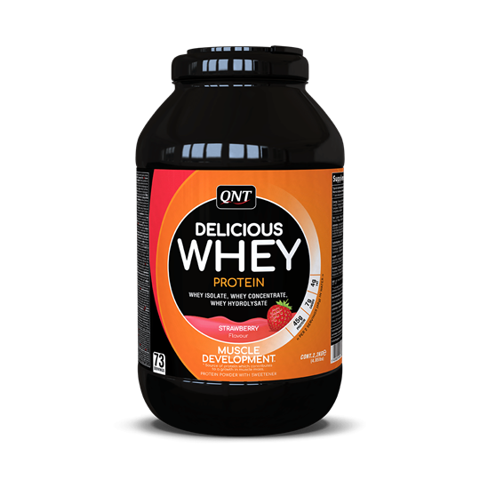 Picture of QNT Delicious Whey Protein Powder Strawberry 2.2Kg