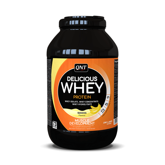 Picture of QNT Delicious Whey Protein Powder Banana 2.2Kg