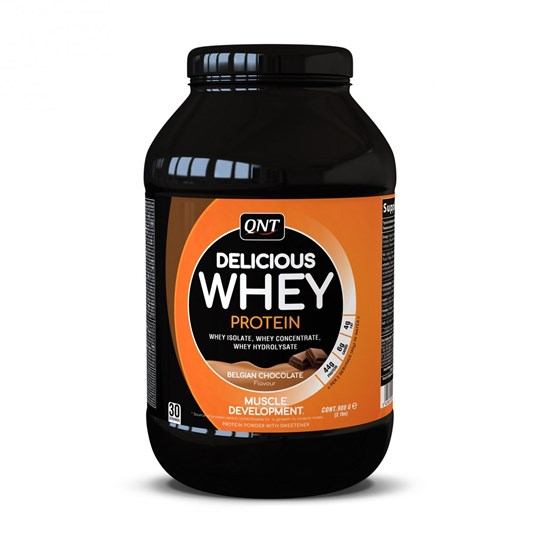 Picture of QNT Delicious Whey Protein Powder Belgian Chocolate 908gr