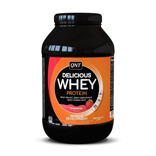 Picture of QNT Delicious Whey Protein Powder Strawberry 908gr