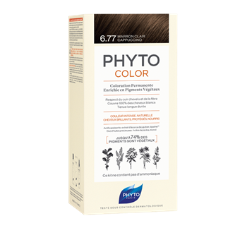 Picture of Phytocolor Μόνιμη Βαφή Μαλλιών 6.77 Μαρόν Ανοιχτό Καπουτσίνο