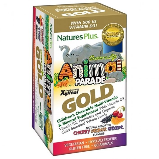 Picture of Natures Plus ANIMAL PARADE GOLD  ASSORTED 60chewtabs