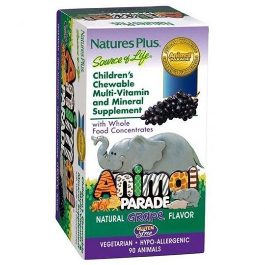 Picture of Natures Plus ANIMAL PARADE Multi Grape 90chewtabs