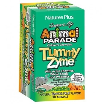 Picture of Natures Plus ANIMAL PARADE Tummyzyme 90chewtabs