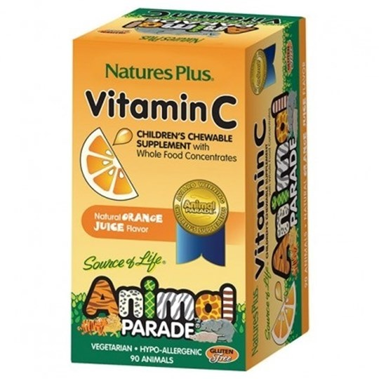 Picture of Natures Plus ANIMAL PARADE Vitamin C  90chewtabs