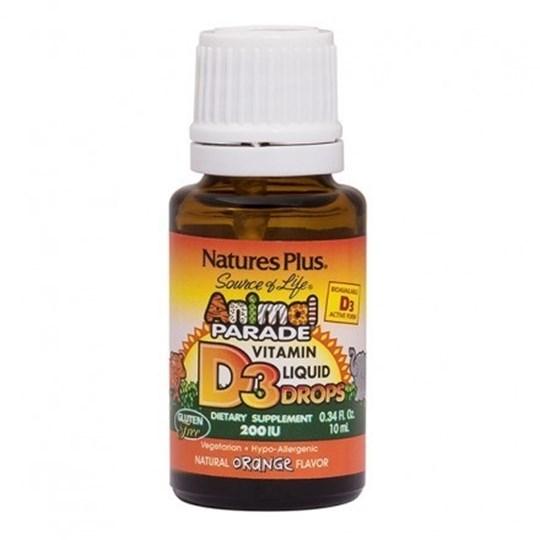 Picture of Natures Plus Animal Parade Vitamin D-3 200IU Liquid Drops 10ml