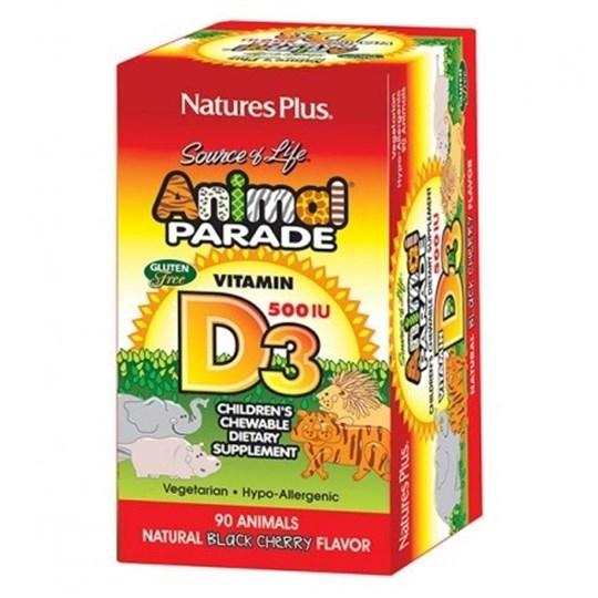 Picture of Natures Plus Animal Parade Vitamin D-3 500iu 90chewtabs