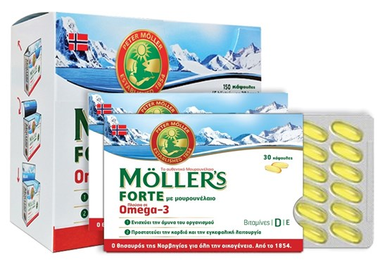 Picture of MOLLER'S Μουρουνέλαιο Forte 150softgels