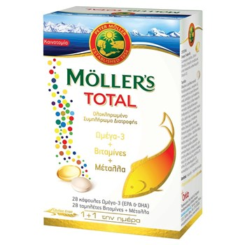 Picture of MOLLER'S Total 28caps + 28tabs