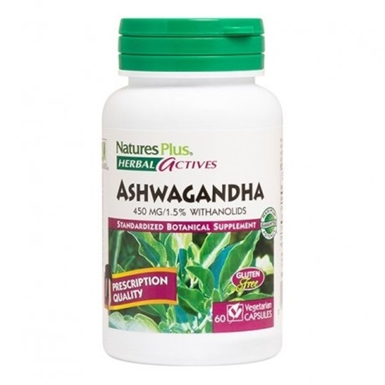 Picture of Natures Plus ASHWAGANDHA  (Withania somnifera) 450 mg 60caps