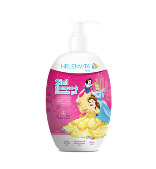 Picture of HELENVITA KIDS 2 IN 1 SHAMPOO & SHOWER GEL PRINCESS 500ML