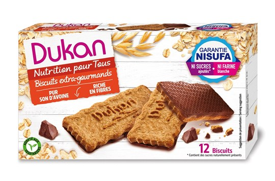 Picture of Dukan Μπισκότα βρώμης με επικάλυψη σοκολάτας 200gr