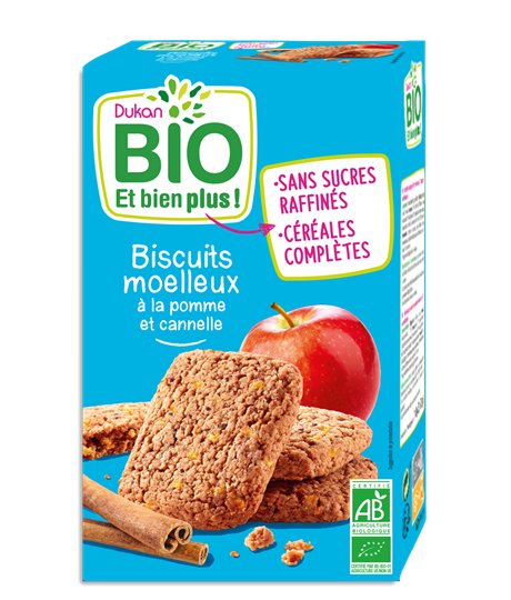 Picture of Dukan BIO Μπισκότα βρώμης με μήλο & κανέλα 150gr