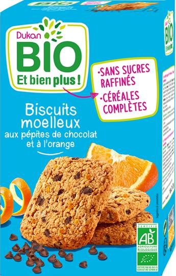 Picture of Dukan BIO Μπισκότα βρώμης με κομμάτια σοκολάτας & πορτοκάλι 150gr
