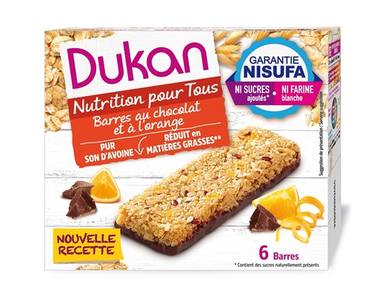 Picture of Dukan Μπάρες βρώμης με σοκολάτα & πορτοκάλι 150gr