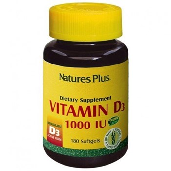 Picture of Natures Plus VITAMIN D3 1000 IU 180 softgels