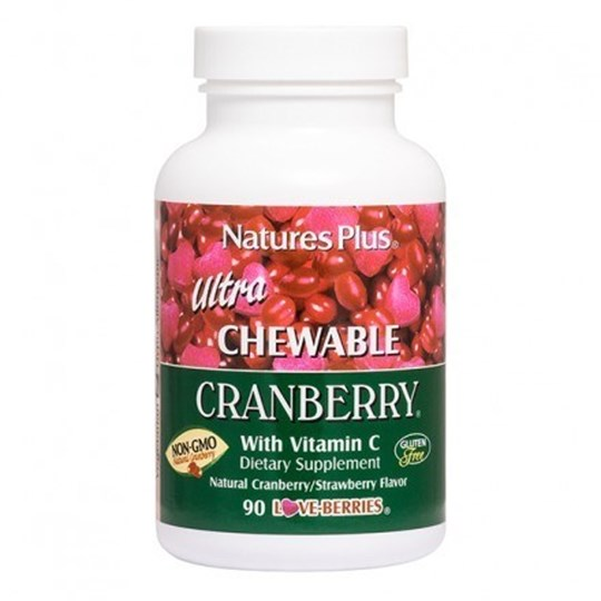 Picture of Natures Plus Ultra Chewable Cranberry 90 chewtabs