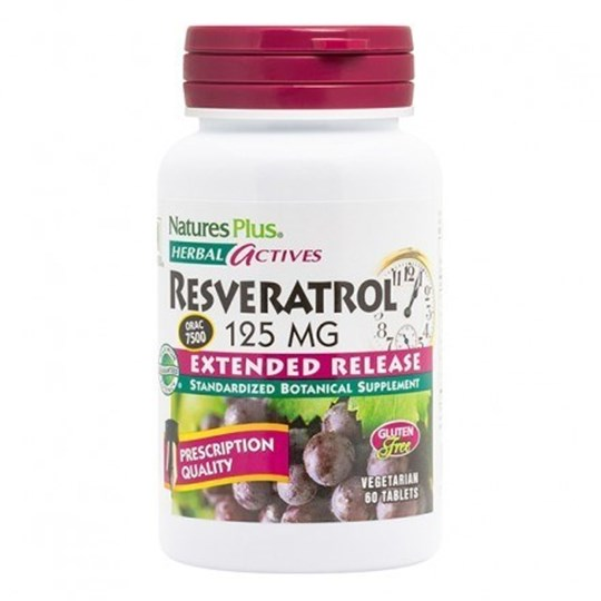 Picture of Natures Plus Resveratrol Extended Release 125mg 60 tabs