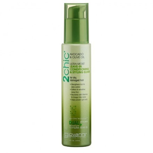 Picture of GIOVANNI COSMETICS 2 CHIC ULTRA MOIST LEAVE-IN CONDITIONING & STYLING ELIXIR 118ml