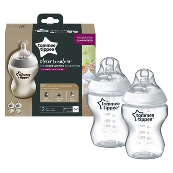 Picture of TOMMEE TIPPEE Closer To Nature μπιμπερό 260ml - μικρή ροή 2 τεμαχίων
