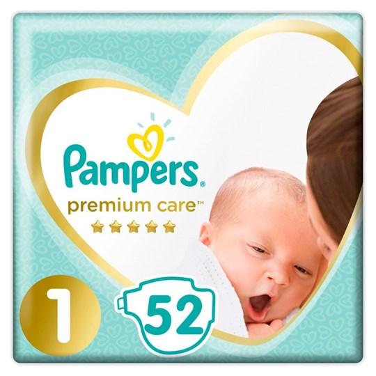 Picture of Pampers Premium Care Πάνες Μέγεθος No1 Newborn (2-5kg) 52 Πάνες