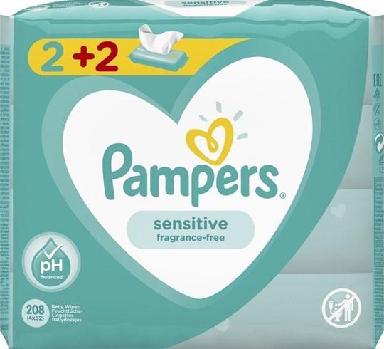 Picture of Pampers Sensitive Μωρομάντηλα 52τμχ 2+2 Δώρο