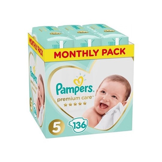 Picture of Pampers Premium Care No.5 (11-16 Κg) 136 Πάνες