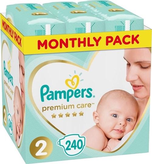 Picture of Pampers Premium Care Πάνες Μέγεθος 2 Monthly 4-8kg 240 Πάνες