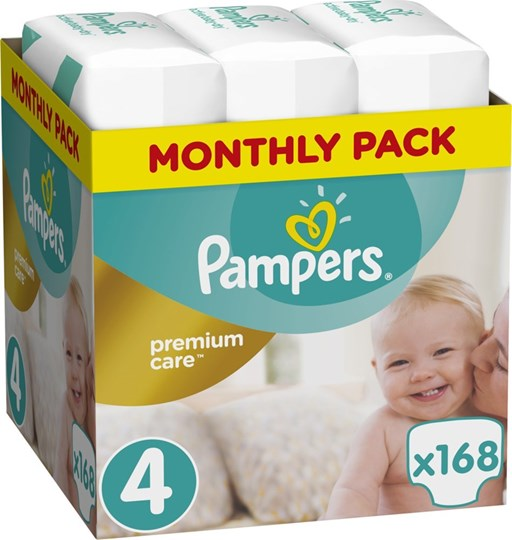Picture of Pampers Premium Care Monthly Box No 4 (8-14Kg) 168 τμχ