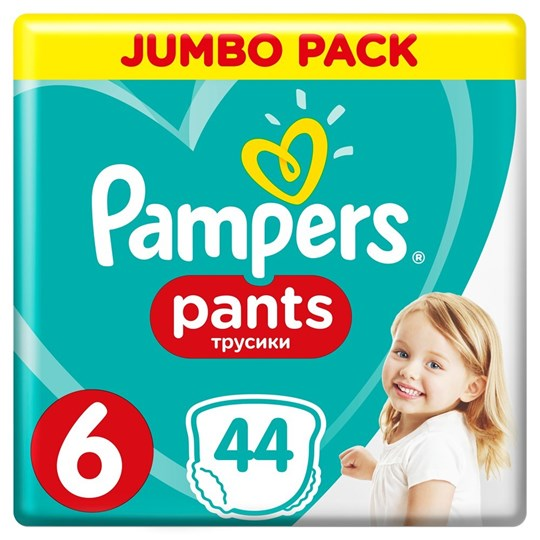 Picture of Pampers Pants Νο.6 (15+ Kg) jumbo pack 44 Πάνες