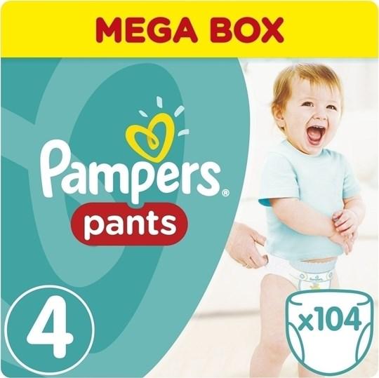 Picture of Pampers Pants Mega Box No.4 (9-15Kg) 104 Πάνες