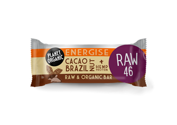 Picture of PLANET ORGANIC Cacao Brazil Nut Energise Bar 30gr