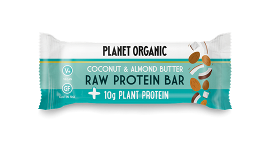 Picture of PLANET ORGANIC Raw Protein Bar Almond Butter & Coconut 50gr