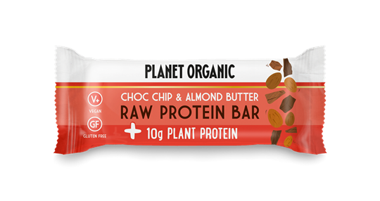 Picture of PLANET ORGANIC Raw Protein Bar Almond Butter & Choc Chip 50gr