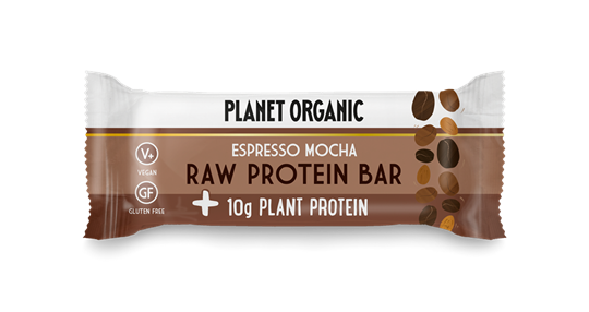 Picture of PLANET ORGANIC Raw Protein Bar Espresso Mocha 50gr