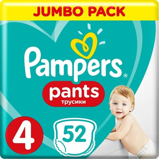 Picture of Pampers Pants No 4 (9-15kg) Maxi 52τμχ