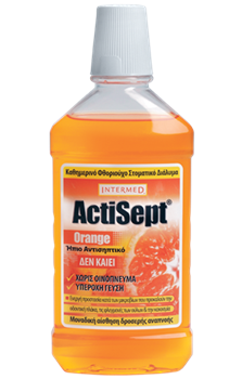 Picture of INTERMED ACTISEPT MOUTHWASH ORANGE 500ML