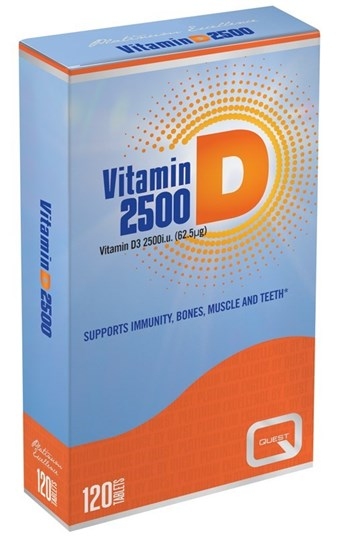 Picture of Quest Vitamin D3 2500iu 120 ταμπλέτες