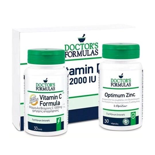 Picture of Doctors Formulas Πακέτο Προσφοράς για Ενίσχυση Ανοσοποιητικού με Vitamin C Formula Fast Action 1000mg, 30tabs & Optimum Zinc 15mg, 30tabs & Δώρο Vitamin D3 2000IU, 60soft caps