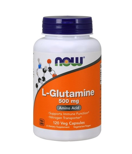 Picture of NOW L-Glutamine 500mg 120vegcaps
